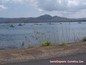 Picturesque lake in Costa Rica