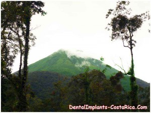 Splendid View of a Volcano in Costa Rica