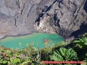A Crater Lake Formed in Irazu Volcano - Costa Rica